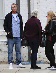 X factor contestant Chris Maloney arriving at studios in south London to pick up his new song for this week show. London, UK. 15/10/2012<br />BYLINE MUST READ : GOTCHAIMAGES.COM<br /><br />Copyright by © Gotcha Images Ltd. All rights reserved.<br />Usage of this image is conditional upon the acceptance <br />of Gotcha Images Ltd, terms and conditions available at<br />www.gotchaimages.com