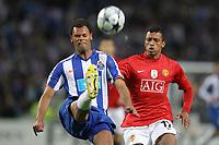 20090415: PORTO, PORTUGAL - FC Porto vs Manchester United: Champions League 2008/2009 Ð Quarter Finals Ð 2nd leg. In picture: Rolando and Nani. PHOTO: Ricardo Estudante/CITYFILES