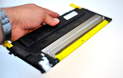 © under license to London News Pictures. 29/10/2010. Generic picture of an ink cartridge from a laser printer. A security alert is under way in both the UK and the US after reports of a suspicious cargo package at a British airport. The suspicious package in the UK was believed to be on its way from Yemen to Chicago. It was reported to be an ink toner cartridge that had been tampered with...