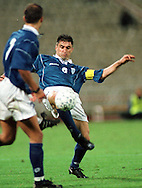 07.10.2000, Olympic Stadium, Athens, Greece. FIFA World Cup Qualifying match, Greece v Finland. Thedoros Zagorakis (GRE)..©JUHA TAMMINEN