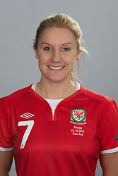 TREFOREST, WALES - Tuesday, February 14, 2011: Wales' Katie Daley. (Pic by David Rawcliffe/Propaganda)