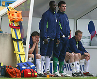 Photo: Paul Thomas.<br /> Preston North End v Birmingham City. Coca Cola Championship. 06/05/2007.<br /> <br /> David Nugent (L) of Preston sits on the bench after coming off.