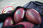 Official NFL footballs photographed at Levi's Stadium in Santa Clara, Calif., on August 14, 2016. (Stan Olszewski/Special to S.F. Examiner)