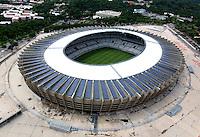 "Football Fifa World Cup Brazil 2014 / <br /> Belo Horizonte - Minas Gerais - Brazil - <br /> Governor Magalhaes Pinto ""  MINEIRAO "" Stadium - Panoramic View of Stadium , Ready for the next  <br /> FIFA World Cup Brazil 2014  , and able to accommodate a capacity of 57,483  Spectators"