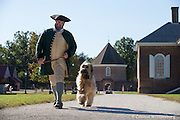 Liberty and her handler out for a walk at Colonial Williamsburg.