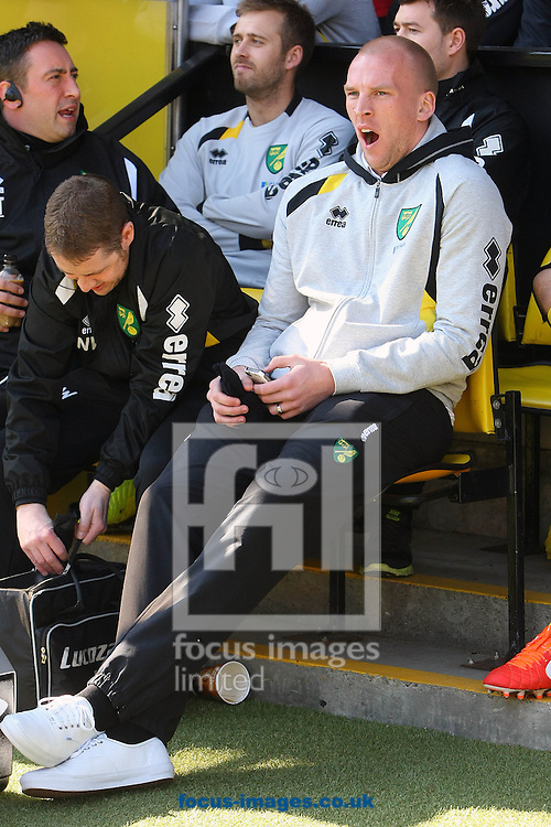 Picture by Paul Chesterton/Focus Images Ltd +44 7904 640267.06/04/2013.John Ruddy of Norwich before the Barclays Premier League match at Carrow Road, Norwich.