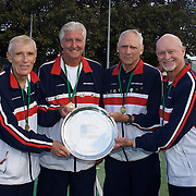 Bitsy Grant Cup Winners USA, left to right, King Van Nostrand, John Powless, Neil Hurlbut, Richard Doss during the 2009 ITF Super-Seniors World Team and Individual Championships at Perth, Western Australia, between 2-15th November, 2009.