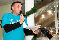 Gasper Bolhar, BTC Medot Bozicno novoletni rekreativni teniski turnir dvojic 2019, on January 12, 2019 in BTC Millenium centre, Ljubljana, Slovenia. Photo by Vid Ponikvar / Sportida