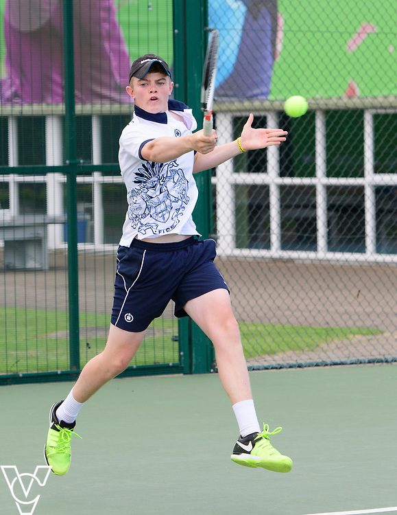 Glanville Cup - Reed's School<br /> <br /> Team Tennis Schools National Championships Finals 2017 held at Nottingham Tennis Centre.  <br /> <br /> Picture: Chris Vaughan Photography for the LTA<br /> Date: July 14, 2017