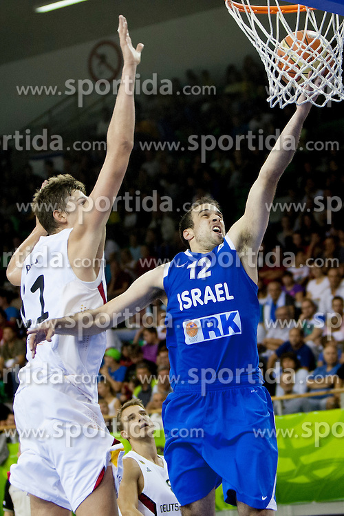 Yotam Helperin #12 of Israel during basketball match between National teams of Germany and Israel at Day 6 of Eurobasket 2013 on September 9, 2013 in Tivoli Hall, Ljubljana, Slovenia. (Photo By Urban Urbanc / Sportida)