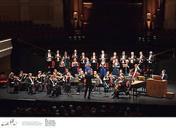 The Sixteen choir and orchestra perform in the Wellington Town Hall, at the New Zealand International Arts Festival.