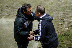 Watford Manager Gianfranco Zola (ITA) congratulates Bristol City Head Coach Sean O'Driscoll (IRL) after the latter's sides 2-0 victory during match - Photo mandatory by-line: Rogan Thomson/JMP - Tel: Mobile: 07966 386802 29/01/2013 - SPORT - FOOTBALL - Ashton Gate - Bristol. Bristol City v Watford - npower Championship.