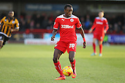 Crawley's Bobson Bawling during the Sky Bet League 1 match between Crawley Town and Port Vale at Broadfield Stadium, Crawley, England on 20 December 2014. Photo by Phil Duncan.