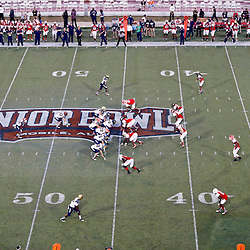 Jan 26, 2013; Mobile, AL, USA; A general view during the second half of the Senior Bowl between the Senior Bowl south squad and the north squad at Ladd-Peebles Stadium. The South squad defeated the North squad 21-16. Mandatory Credit: Derick E. Hingle-USA TODAY Sports
