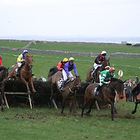 Action from the sixth race at the Bellhabour point to point.<br />