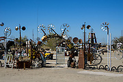East Jesus Sculpture Garden Entry in Slab City California