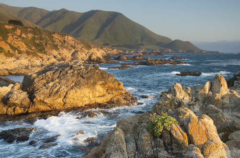 Rugged coast of Big Sur from Garrapata State Park California