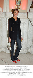 Model JACQUETTA WHEELER at a party in London on 20th October 2003. PNP 397