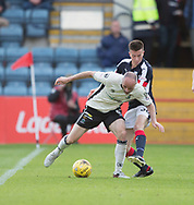Dundee&rsquo;s Cammy Kerr tries to tackle Inverness&rsquo; David Raven - Dundee v Inverness Caledonian Thistle in the Ladbrokes Scottish Premiership at Dens Park, Dundee, Photo: David Young<br /> <br />  - &copy; David Young - www.davidyoungphoto.co.uk - email: davidyoungphoto@gmail.com