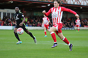 Accrington Stanley midfielder Josh Windass during the The FA Cup match between Accrington Stanley and York City at the Fraser Eagle Stadium, Accrington, England on 7 November 2015. Photo by Pete Burns.