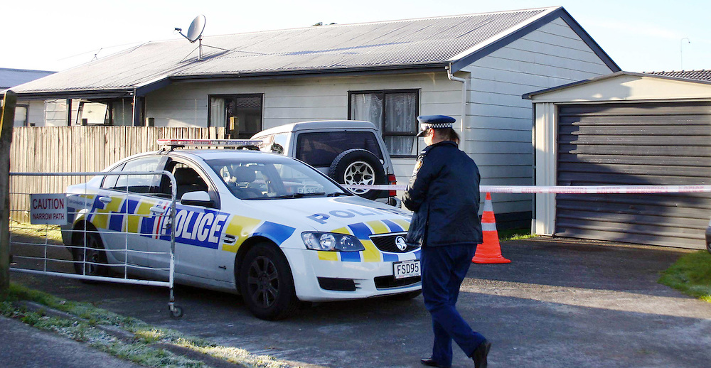 Police at a Druces Road property, Manukau after a sixty year old woman  Losaline Fifita was shot and taken to hospital where a bullet was found lodged in her head, Auckland, New Zealand, Sunday, June 17, 2012. A sixty year old man has been charged. Credit:SNPA / Grahame Clark