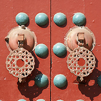 Ornate doorway Door Handles , Casablanca - Morocco