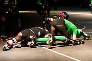 Berlin, Allemagne. 11 Decembre 2010..Championnat Allemand de Roller Derby..Berlin, Germany. December 11th 2010..Roller Derby German Championship