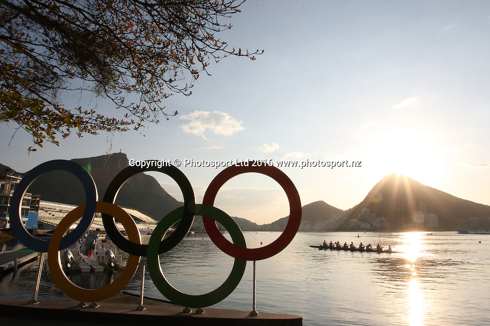 Rio 2016 Olympics - General view of the Lagoa Stadium where the Olympic Rowing Regatta will be held, Rio de Janero, Brazil.<br /> 5 August 2016.<br /> Copyright photo: www.photosport.nz