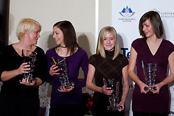 Sasa Maraz, Eva Trost, Doroteja Rebernik and Eva Vivod at Best Slovenian athlete of the year ceremony, on November 15, 2008 in Hotel Lev, Ljubljana, Slovenia. (Photo by Vid Ponikvar / Sportida)