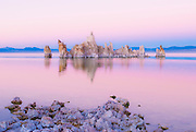Tufa towers at dusk on the south shore of Mono Lake, Mono Basin National Scenic Area, California