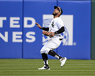 CHICAGO - APRIL 09:  Leury Garcia #28 of the Chicago White Sox fields against the Tampa Bay Rays on April 9, 2019 at Guaranteed Rate Field in Chicago, Illinois.  (Photo by Ron Vesely)  Subject:   Leury Garcia
