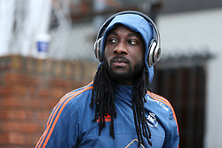Marvin Emnes of Swansea City arrives at Selhurst Park - Mandatory byline: Jason Brown/JMP - 07966386802 - 28/12/2015 - FOOTBALL - London - Selhurst Park - Crystal Palace v Swansea City - Barclays Premier League
