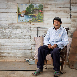 Justo Dionisio Lopez, 96. Came to the hacienda San Agustín when he was 20.