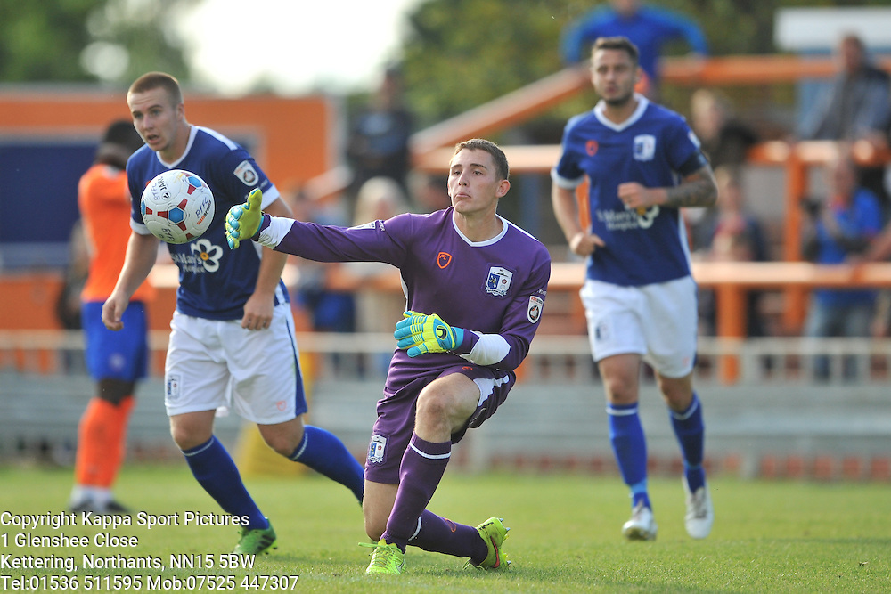Joel Dixon Goalkeeper Barrow AFC, Braintree Town v Barrow AFC, Avanti Stadium Braintree, Vanarama National League, Saturday, 12th September 2015.