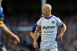 Peter Stringer of Bath Rugby, making his 100th European appearance, looks on during a break in play - Photo mandatory by-line: Patrick Khachfe/JMP - Mobile: 07966 386802 04/04/2015 - SPORT - RUGBY UNION - Dublin - Aviva Stadium - Leinster Rugby v Bath Rugby - European Rugby Champions Cup