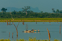 Udawalawe National Park, Sri Lanka. Udawalawe is an important habitat for water birds and Sri Lankan elephants.
