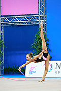 """Aesma Carmen during rope routine at the International Tournament of rhythmic gymnastics """"Città di Pesaro"""", 01 April,2016 . Carmen is a gymnast from Estonia. She is born at Tallin, 2002. <br /> This tournament dedicated to the youngest athletes is at the same time of the World Cup."""