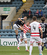 Dundee&rsquo;s Julen Etxabeguren heads clear  - Dundee v Hamilton Academical, Ladbrokes Scottish Premiership at Dens Park<br /> <br /> <br />  - &copy; David Young - www.davidyoungphoto.co.uk - email: davidyoungphoto@gmail.com