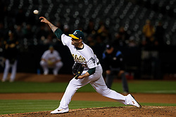 OAKLAND, CA - MAY 07: Mike Fiers #50 of the Oakland Athletics pitches against the Cincinnati Reds during the ninth inning at the Oakland Coliseum on May 7, 2019 in Oakland, California. Fiers pitched a no hitter as the Oakland Athletics defeated the Cincinnati Reds 2-0. (Photo by Jason O. Watson/Getty Images) *** Local Caption *** Mike Fiers