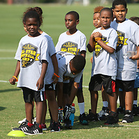 Kids from ages 5 all the way up to 12 came out to participate in the All-Star Football Camp benefiting the Boys and Girls Clubs of North Mississippi Saturday at Ballard Park