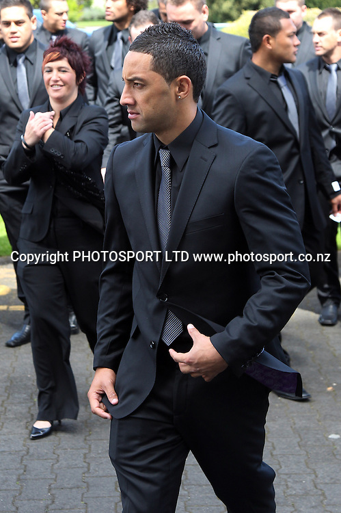 Benji Marshall in his new suit. Four Nations League Luncheon in support of League 4 Life, Ellerslie Convention Centre Auckland on Tuesday 12 October 2010. Photo: Andrew Cornaga/PHOTOSPORT