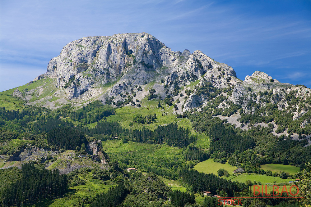 Mugarra Mount.<br /> Urkiola Natural Park. Biscay, Basque Country, Spain, Europe.