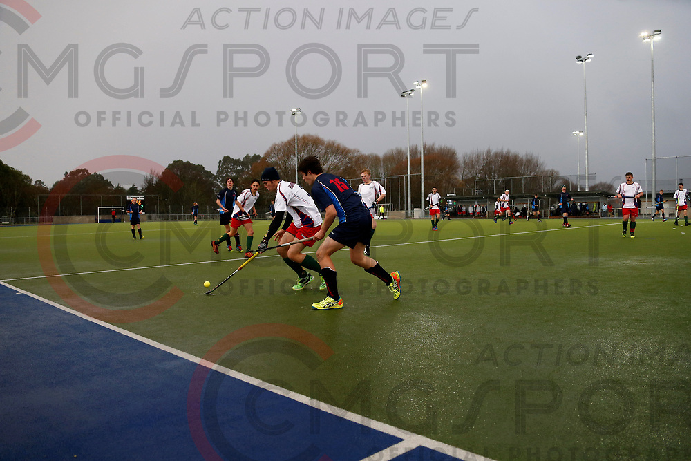 TASMAN V HOROWHENUA<br /> U18 BOYS CHAMPIONSHIP HOCKEY<br /> 20170712<br /> NUNWEEK PARK, Christchurch, New Zealand<br /> Photo Kevin Clarke CMGSPORT<br /> &copy;WWW.CMGSPORT.CO.NZ