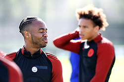 Raheem Sterling of Manchester City trains with Leroy Sane - Mandatory by-line: Matt McNulty/JMP - 23/08/2016 - FOOTBALL - Manchester City - Training session ahead of Champions League qualifier against Steaua Bucharest