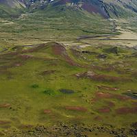 Hólaholar til austurs, Snæfellsjökull, Snæfellsbær áður Breiðuvíkurhreppur / Holaholar viewing east, Snaefellsjokull glacier on top of the volcano.Snaefellsbaer former Breiduvikurhreppur.