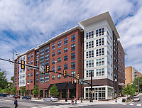 Arlington VA apartment building the Shell by Jeffrey Sauers of Commercial Photographics, Architectural Photo Artistry in Washington DC, Virginia to Florida and PA to New England