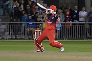 Glenn Maxwell batting during the Vitality T20 Blast North Group match between Lancashire Lightning and Leicestershire Foxes at the Emirates, Old Trafford, Manchester, United Kingdom on 30 August 2019.