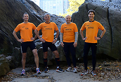 02-11-2013 ALGEMEEN: BVDGF NY MARATHON: NEW YORK <br /> Parcours verkenning en laatste training in het Central Park / Ton, Harold, Martin, Bernd<br /> ©2013-FotoHoogendoorn.nl