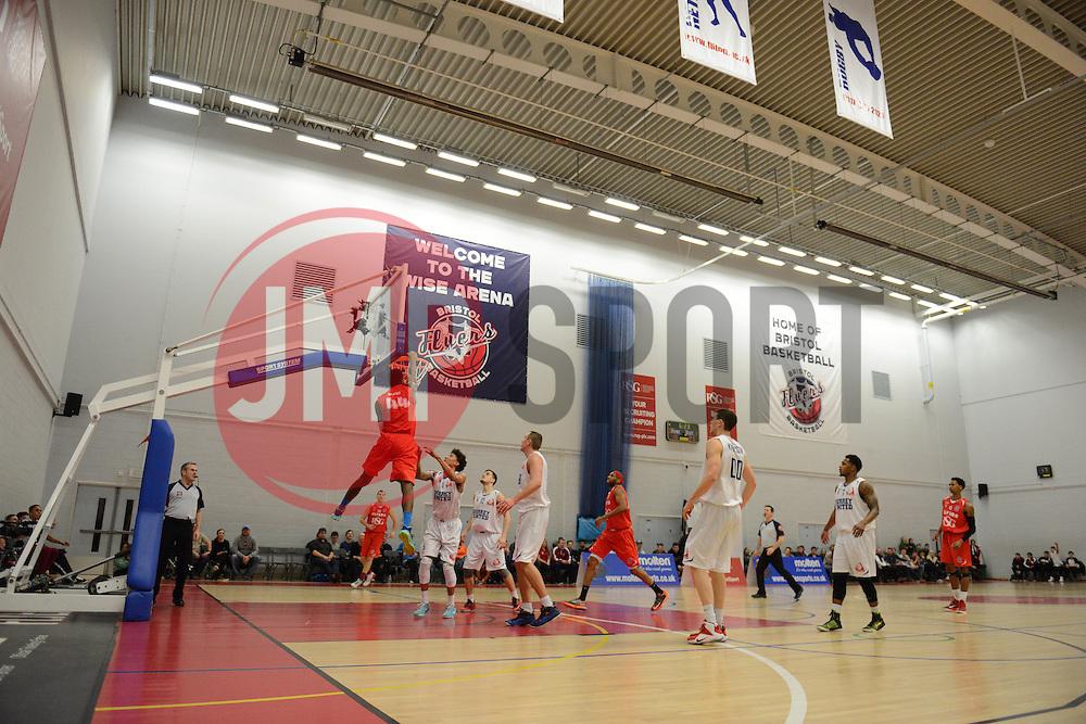 Bristol Flyers' Alif Bland - Photo mandatory by-line: Dougie Allward/JMP - Mobile: 07966 386802 - 13/02/2015 - SPORT - Basketball - Bristol - SGS Wise Campus - Bristol Flyers v Surrey United - British Basketball League