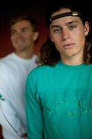 Teens photographed in Maine wearing skate brands.